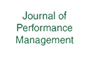 Logo Journal of Performance Management