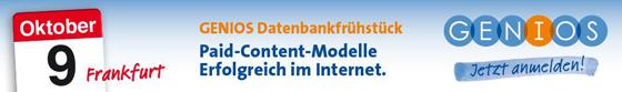 Datenbankfrühstück auf der Frankfurter Buchmesse 2013